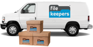 File Keepers van with boxes