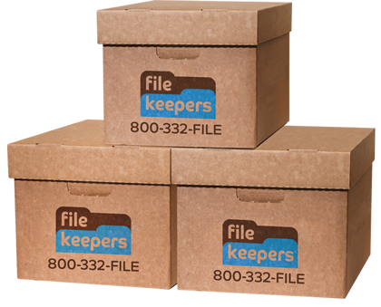 File Keepers standard boxes, business file storage, business file management